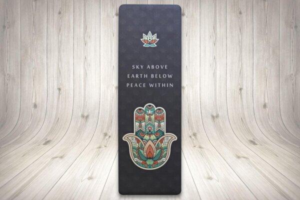 Mind Body Soul Yoga Mat Hamsa Hand 01